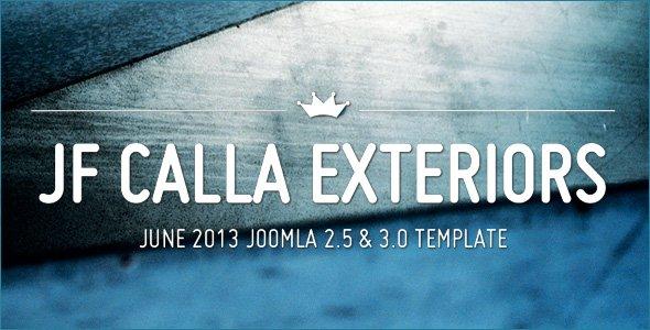 jf Calla Exteriors: A non typical agency portfolio template
