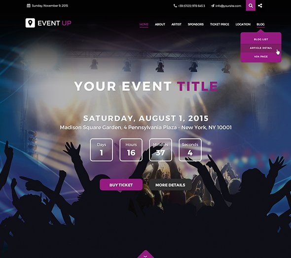 Jf event up 2015 joomla templates jf event up maxwellsz