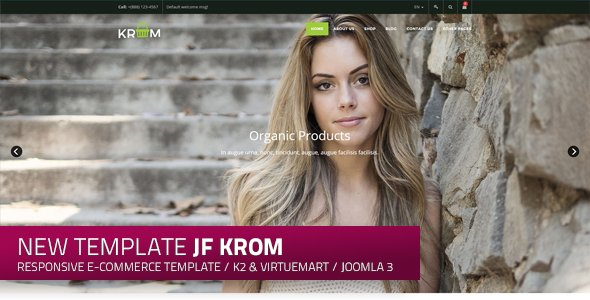 jf krom: a new responsive free e-commerce Joomla! Template