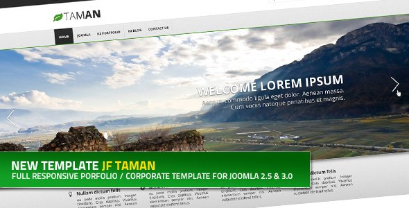 JF Taman: a flexible portfolio and corporate Joomla template