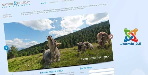 jf Holiday Nature Template updated to Joomla! 2.5