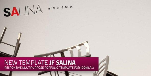 jf Salina: a stylish new free responsive Joomla portfolio template