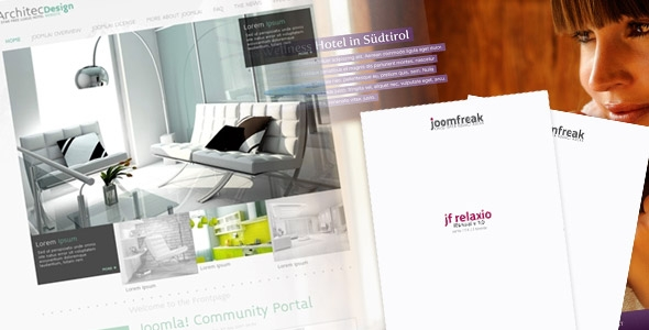 joomfreak releases jf Architec Design for Joomla! 2.5 and first help guide for jf Relaxio