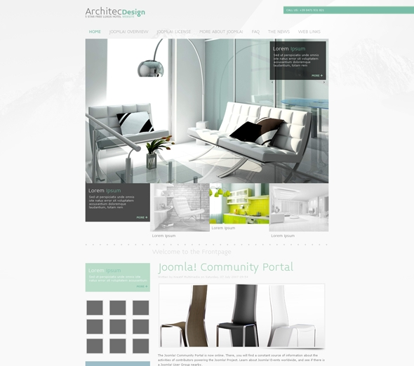 JF Architec Design joomla template