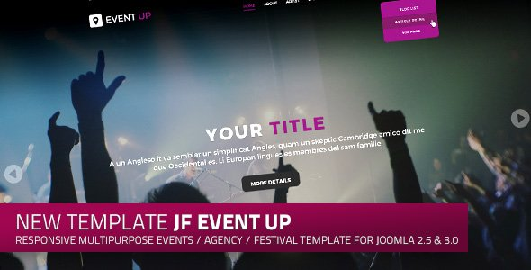 Jf event up a responsive multipurpose events and agency joomla jf event up a responsive multipurpose events and agency joomla template maxwellsz