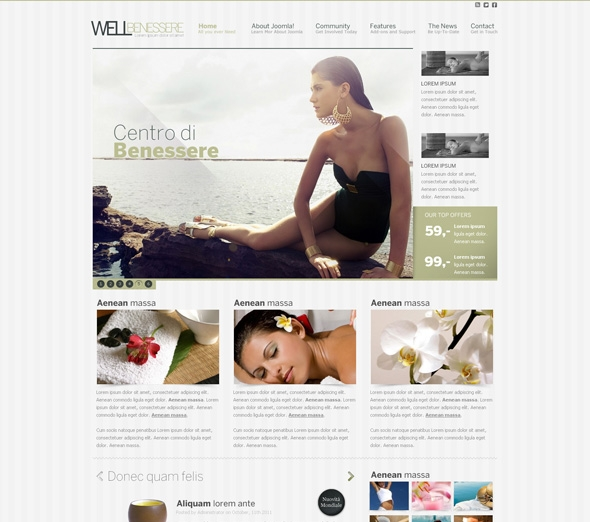 JF Well Benessere joomla template